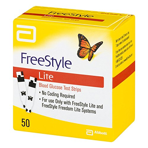 Freestyle lite glucose test strips 50 count by FSL
