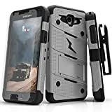 Samsung Galaxy J3 Emerge Case, Zizo [Bolt Series] w/ [Galaxy J3 Emerge Screen Protector] Kickstand [12 ft. Drop Tested] Galaxy J3 Prime / Amp Prime 2