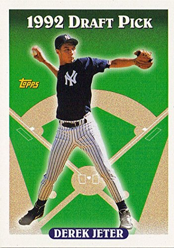 1993 Topps # 98 Derek Jeter (RC) - New York Yankees - Rookie Baseball Card In Protective Display Case