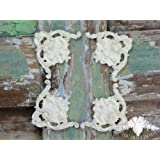 Shabby Chic Moulding Applique Ornate Set of 4 Large Corners Perfect for Frames Decorative Furniture Trim Embellishment Onlay by Chic Mouldings