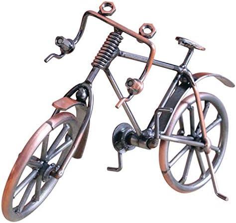 Color Cobre Goldyqin Modelo de Bicicleta Antigua Metal Craft Decoraci/ón del hogar Bicicleta Figurita Miniaturas Ni/ños Cumplea/ños Juguete Regalos Pantalla de Escritorio Craft