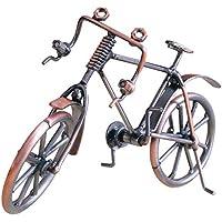 Goldyqin Modelo de Bicicleta Antigua Metal Craft Decoración