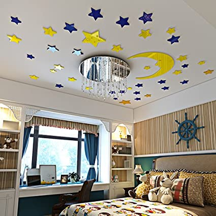 Remarkable Amazon Com Jedfild The Star Of The False Ceiling Acrylic 3D Home Interior And Landscaping Eliaenasavecom
