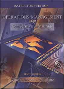 operations management for competitive advantage The operations management is concerned with the transformation process that  takes inputs and converts  competitive advantage, 11th edition publisher:.