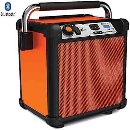 Ion Audio (IPA74OR) Job Rocker Plus Portable Heavy-Duty Jobsite Speaker System Orange - (Certified Refurbished)