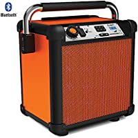 Ion Audio (IPA74OR) Job Rocker Plus Portable Heavy-Duty Jobsite Speaker System Orange - (Certified Refurbished)