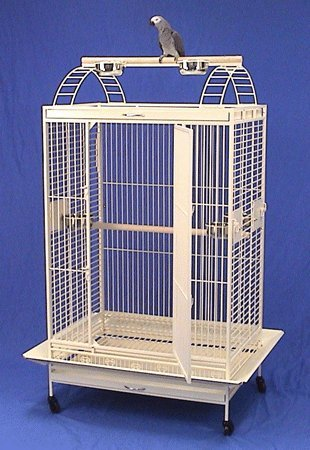 "Kauai Kastle Playtop Bird Cage - 36"" X 26"" X 68"" - Eggshell Vein by BirdCages4Less"
