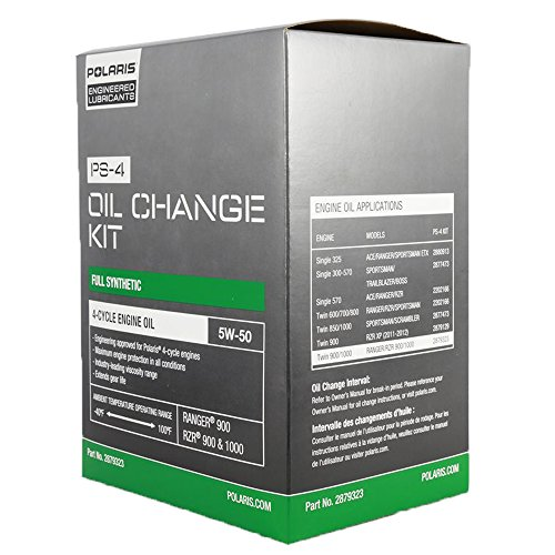 Polaris 2013 Ranger RZR 900 XP Oil Change Kit PS-4 Oil