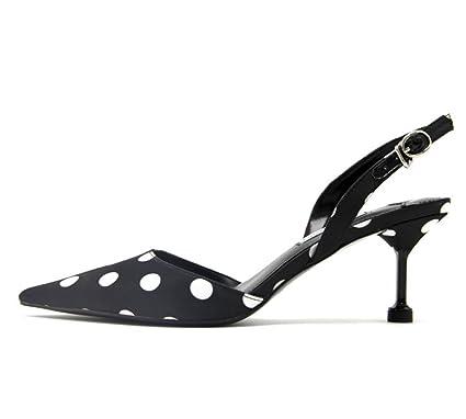 1ecf57904871 Huaishu Damen Sandalen Frauen Spitzen Füße Casual Bequeme Sandalen Sommer Schuhe  mit hohen Absätzen Stilettos Wave