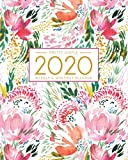 2020 Planner Weekly and Monthly: Jan 1, 2020 to Dec 31, 2020: Weekly & Monthly Planner + Calendar Views | Inspirational Quotes and Watercolor Floral Cover