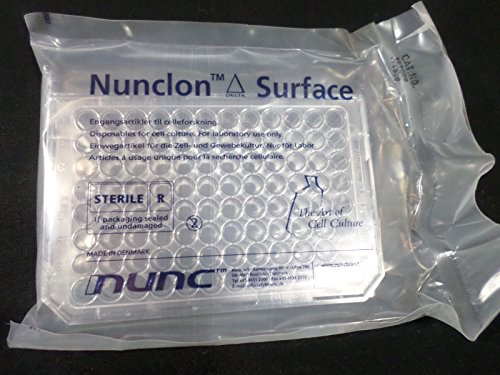 NUNC MicroWell 96-Well Flat Bottom Cell Culture Plate With Lid 167008 (1/Pack) - Microwell Plate