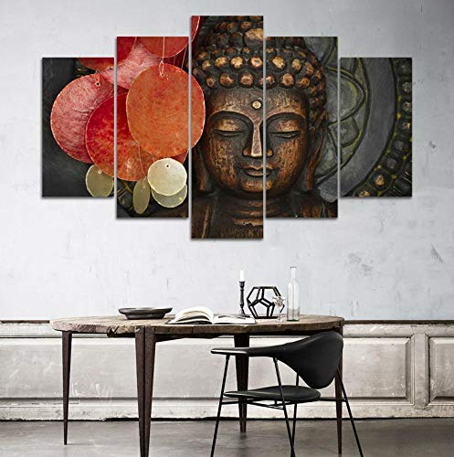 inting Without Frame Picture of Buddhist Buddha Statue Canvas Wall Art Print Canvas Oil Painting ()