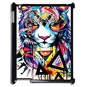 DIY Hard Cell Phone Case for Ipad2,3,4 Cover Case - Cool Tiger HX-MI-013103
