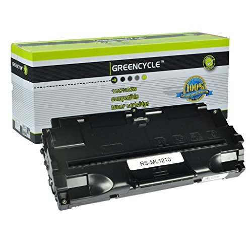 GREENCYCLE 1 Pack ML1210 ML-1210 Black Toner Cartridge Compatible for Samsung ML-1010 ML-1020 Laser Printer