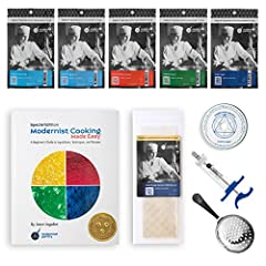 This complete Molecular Gastronomy Kit has everything you need to master basic techniques and ingredients that will have them talking about your next dinner party for months. A comprehensive 250-page guide book will help you discover the secr...