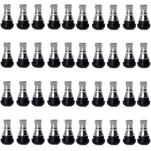 Circuit Performance Shorty Chrome Valve Stems TR412 22mm Low Profile (40 Pieces) by Circuit Performance