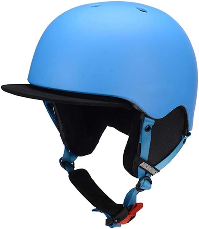 GWM スキーヘルメット、子供のアンチショックベニヤダブルスノーボード機器、保護装置子供のヘルメット、快適で軽い、安全で健康、暖かい親子 (色 : 青) 青
