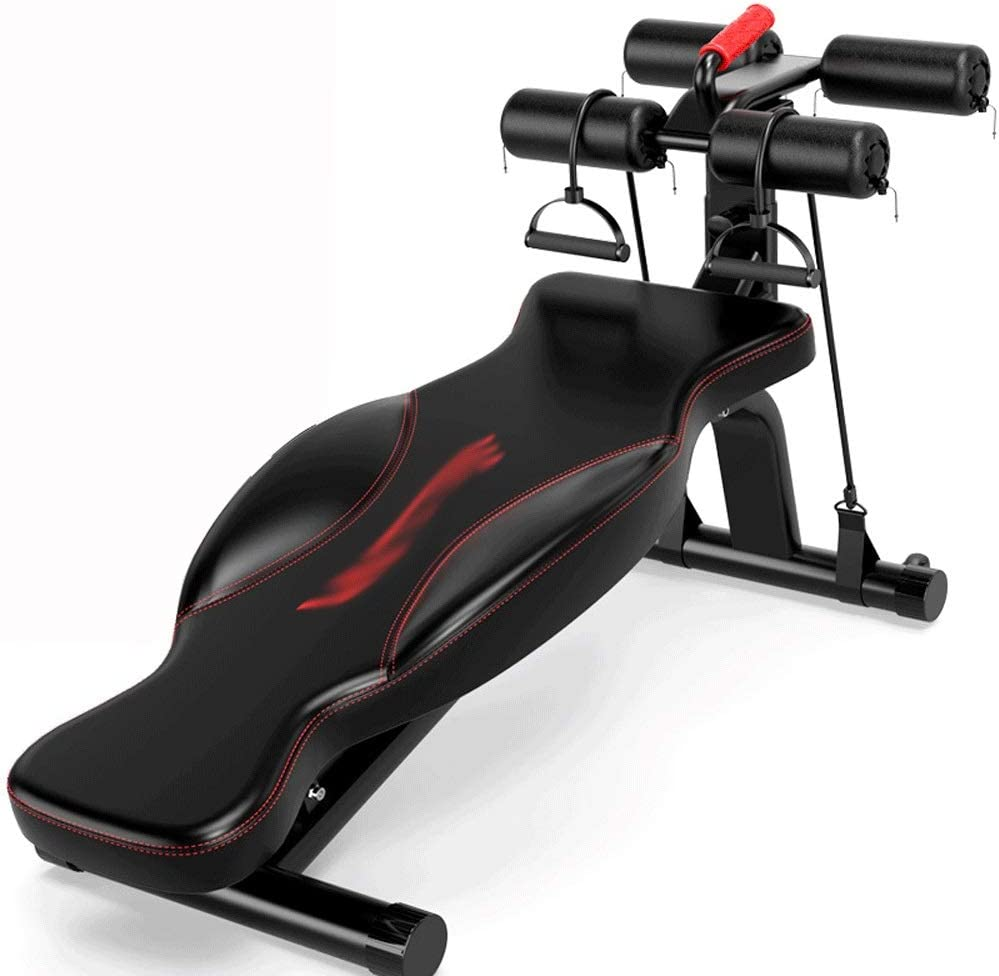 シットアップボードを、ホーム腹筋フィットネス機器メンズ腹部ボード腹部運動多機能仰臥位ボードスポーツエイズ (Color : 赤) 赤