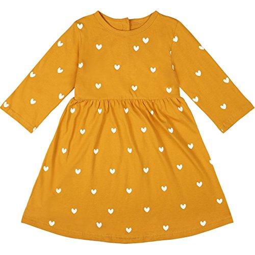 [Ephex Girls Animal Print long sleeve Casual Dress 2-9T] (Baby Animal Dresses)