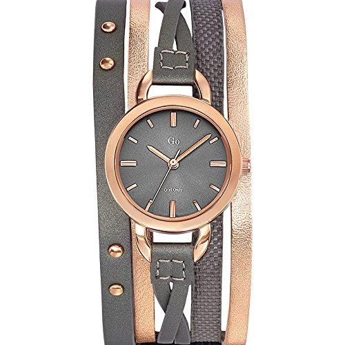 GO Girl Only - 698595 - Reloj Mujer - Cuarzo Analógico - Esfera Gris - Pulsera Piel Bicolor: Amazon.es: Relojes