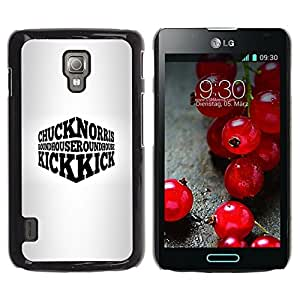 Be Good Phone Accessory // Dura Cáscara cubierta Protectora Caso Carcasa Funda de Protección para LG Optimus L7 II P710 / L7X P714 // Tough Man Usa Quote Funny Martial Arts