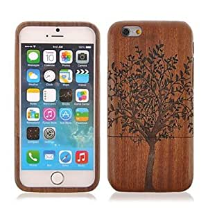 Mini - Tree Pattern Sapele Wood Cover for iPhone 6