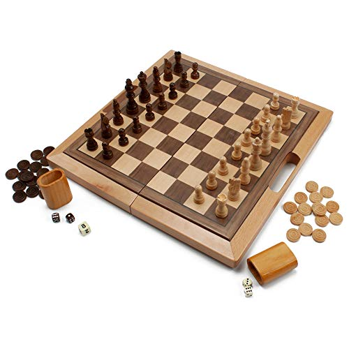 checkers board game wooden - 4
