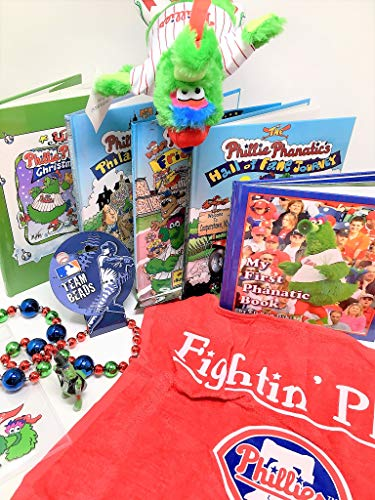 (Phillie Phanatic Mega Fan Pack 5 Books 1 Towel 1 Figurine 1 Plush Doll 1 Team Beads w Clear Ticket Holder)