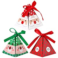 YeahiBaby Christmas Paper Boxes Gift Party Treats Candy Chocolate Goodies Boxes Party Supplies 30 Pieces