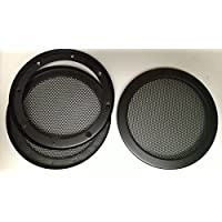 5.25 inch Metal Mesh Speaker Grills - Mid Range Grill - Hidden mounting bracket for a cleaner look - One Pair
