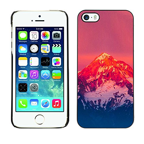 SuperStar // Refroidir image Étui rigide PC Housse de protection Hard Case Protective Cover for iPhone 5 / 5S / Snow Mountain Sunset /