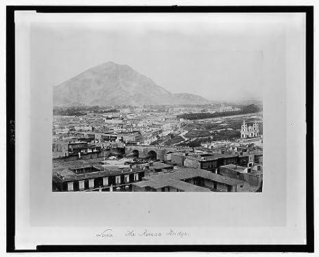 Foto: Puente sobre Río Rimac, lima, Perú, antena View, 1868 ...