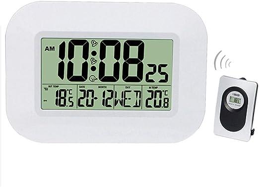DZBMY Relojes de Pared Gran LCD Reloj Digital de Pared Termómetro ...