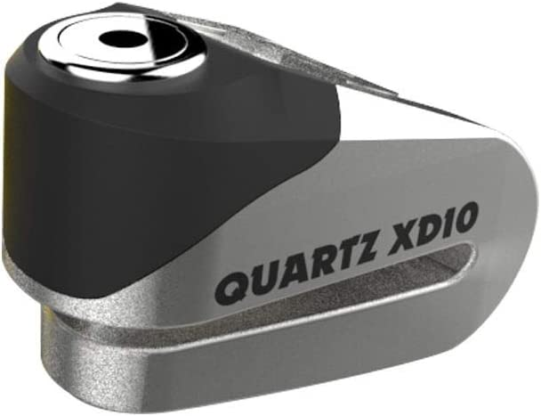 10mm Pin OXFORD LK268 Quartz XD10 High Security Motorcycle Disc Lock Brushed Stainless Effect Silver
