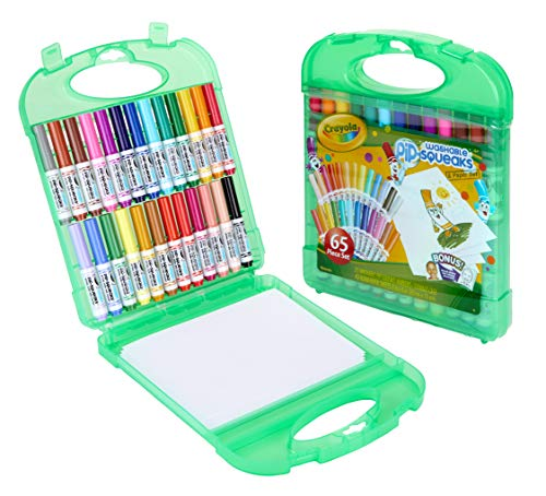 Crayola Pip Squeaks Washable Markers Set, Stocking Stuffers, Gift For Kids, Ages 4, 5, 6, 7 (Set Crayola Marker 64)