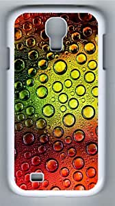 Colorful waterdrops PC Case Cover for Samsung Galaxy S4 and Samsung Galaxy I9500 White