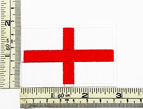 England Country Flag logo Patch Embroidered Iron on Hat Jacket Hoodie Backpack Ideal for Gift (Country Hoody)