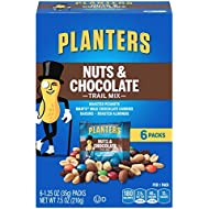 PLANTERS Nuts and Chocolate Trail Mix, 1.25 oz. Bags (6 Pack) | Trail Mix with M&M's Chocolate and Roasted Peanuts | Sweet and Salty Energy Boost | Kosher