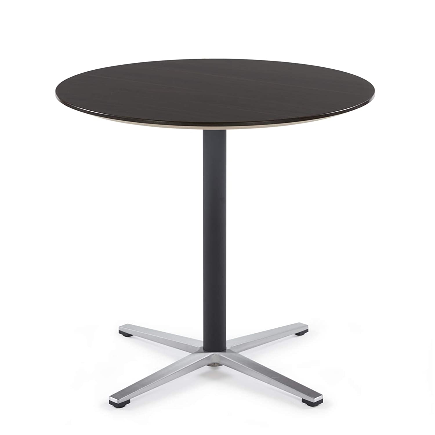Sunon Round Bistro Table Small Round Table with X-Style Pedestal for Pub Table/Cafe Table/Office Table/Conference Table (Dark Walnut,29.5-Inch Height)