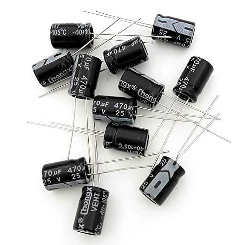(20 Pcs) MCIGICM 470uf 25V electrolytic Capacitor 8×12mm