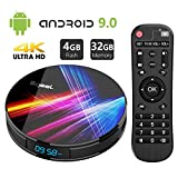 Android 9.0 TV Box 4GB DDR3 32GB ROM, Bqeel R1 Pro Android Box