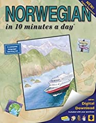 """Who knew learning Norwegian could be so much fun? Now with a new digital download, the ever-popular """"NORWEGIAN in 10 minutes a day"""" Book makes learning Norwegian simply a breeze. It's the perfect blend of education and entertainment. F..."""