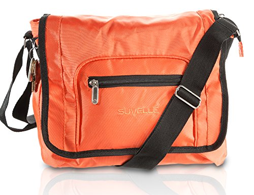 Suvelle Lightweight Flapper Travel Everyday Crossbody Bag Multi Pocket Shoulder Handbag 9902