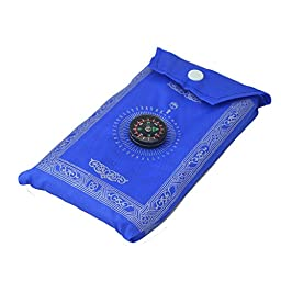 YUPENGDA® Muslim Prayer Mat with Compass Portable Polyester 60*100cm (Blue)