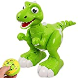 Electronic Dinosaurs,ToyPark Kids Toys Remote Control Interactive Dinosaurs with Spraying Water, Walking ,Sing & Dance,Figure Gesture,Interative Pet for Boys and Girls Gifts