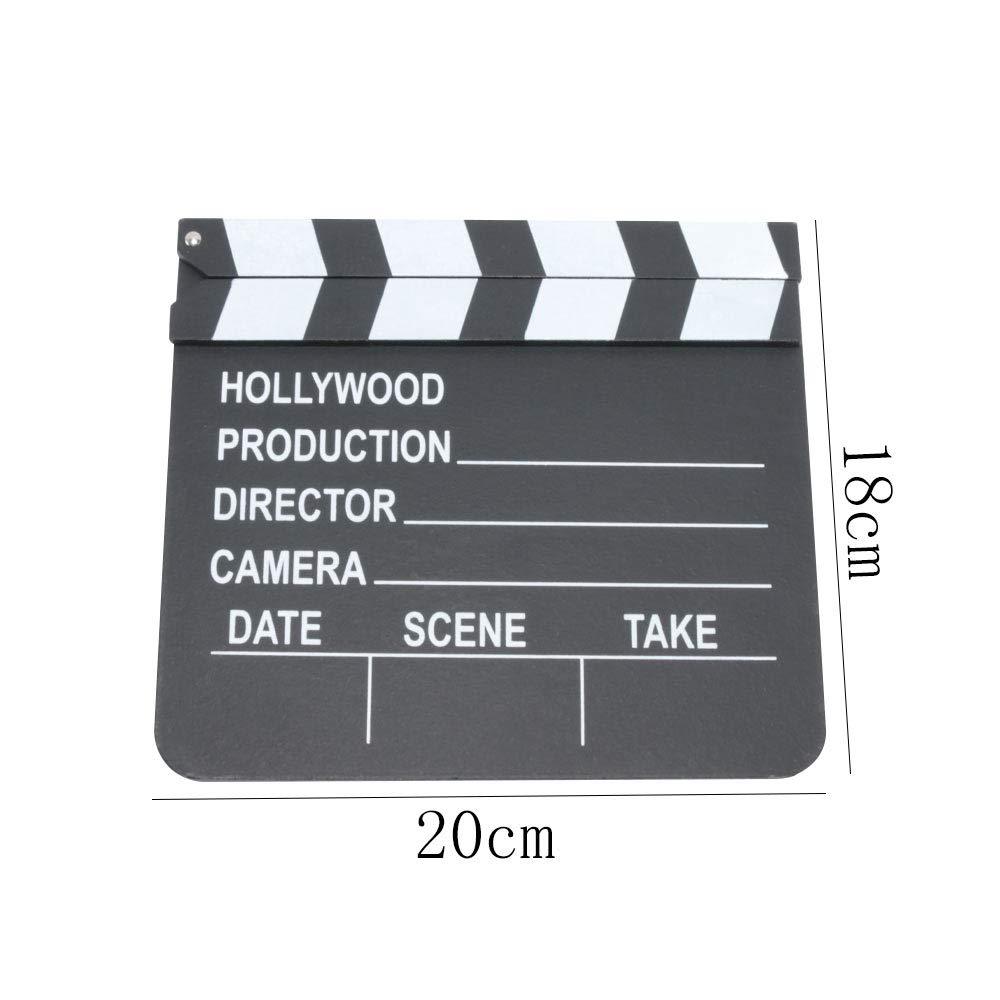 Ochoos Figurines & Miniatures 木製ディレクター ビデオシーン クラッパーボード ムービー クラッパーボード フィルムカット 小道具 B07NSCQQVL