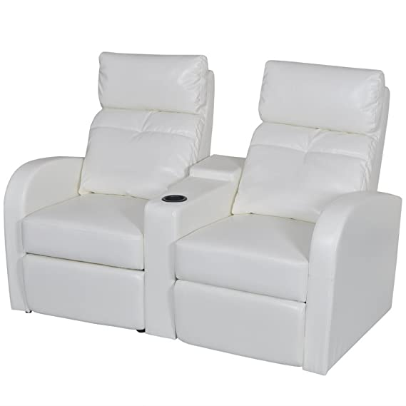 Amazon.com: vidaXL piel Artificial Home Cinema sillones ...