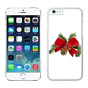 Personalized Design Christmas Tree Bowknot White Apple Iphone Cases For Iphone 6 4.7 Inch