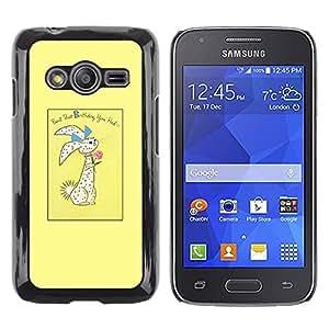 LECELL--Funda protectora / Cubierta / Piel For Samsung Galaxy Ace 4 G313 SM-G313F -- Easter Bunny Holidays Rabbit --
