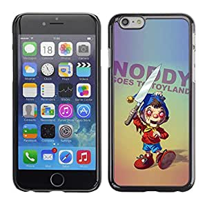 Qstar Arte & diseño plástico duro Fundas Cover Cubre Hard Case Cover para Apple (5.5 inches !!!) iPhone 6 Plus ( Creepy Toy Knife Horror Ugly Slogan Random)